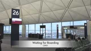 preview picture of video 'Airline Travel Hong Kong to Manila by Cathay Pacific Airbus 330-300.'
