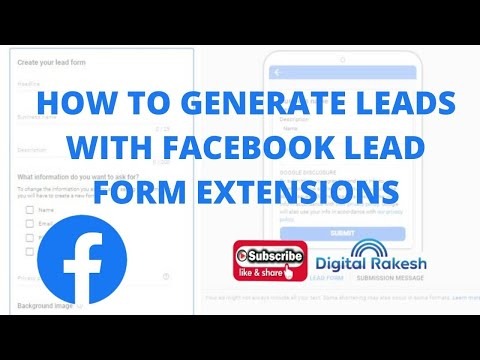How to generate leads with Facebook Lead Form Extensions
