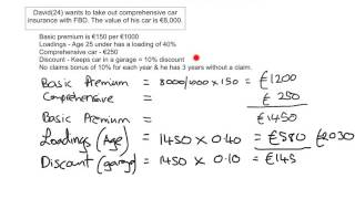 Insurance - Calculating Premiums 2