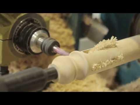Токарный станок по дереву с ЧПУ CNC-315K для производства балясин  - достойная обработка заготовки