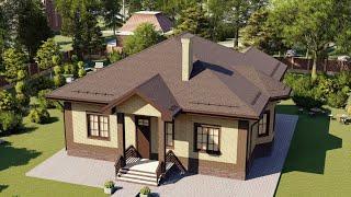 Проект дома 142-B, Площадь дома: 142 м2, Размер дома:  15x13 м