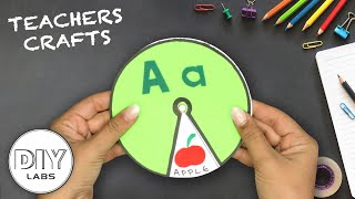 How To Make An ALPHABET SPINNING WHEEL | Paper Craft | Fast-n-Easy | DIY Labs