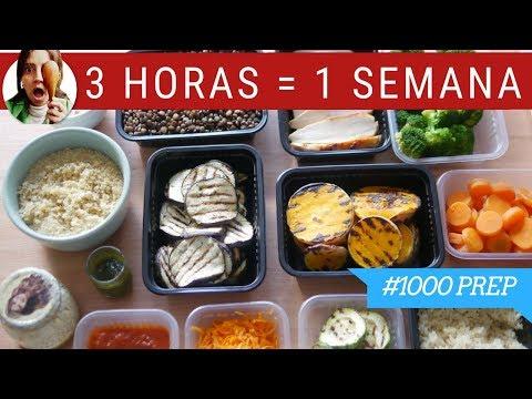 COCINA UN DÍA PARA COMER TODA LA SEMANA  ¡SALUDABLE! - #1000PREP