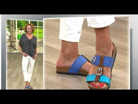 BOnova Schuh Show QVCDE Juli 16 # Damen Pantolette Antik Leder