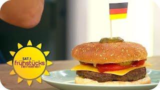 Der perfekte Burger: Was braucht er und wie wird er gegessen? | SAT.1 Frühstücksfernsehen | TV