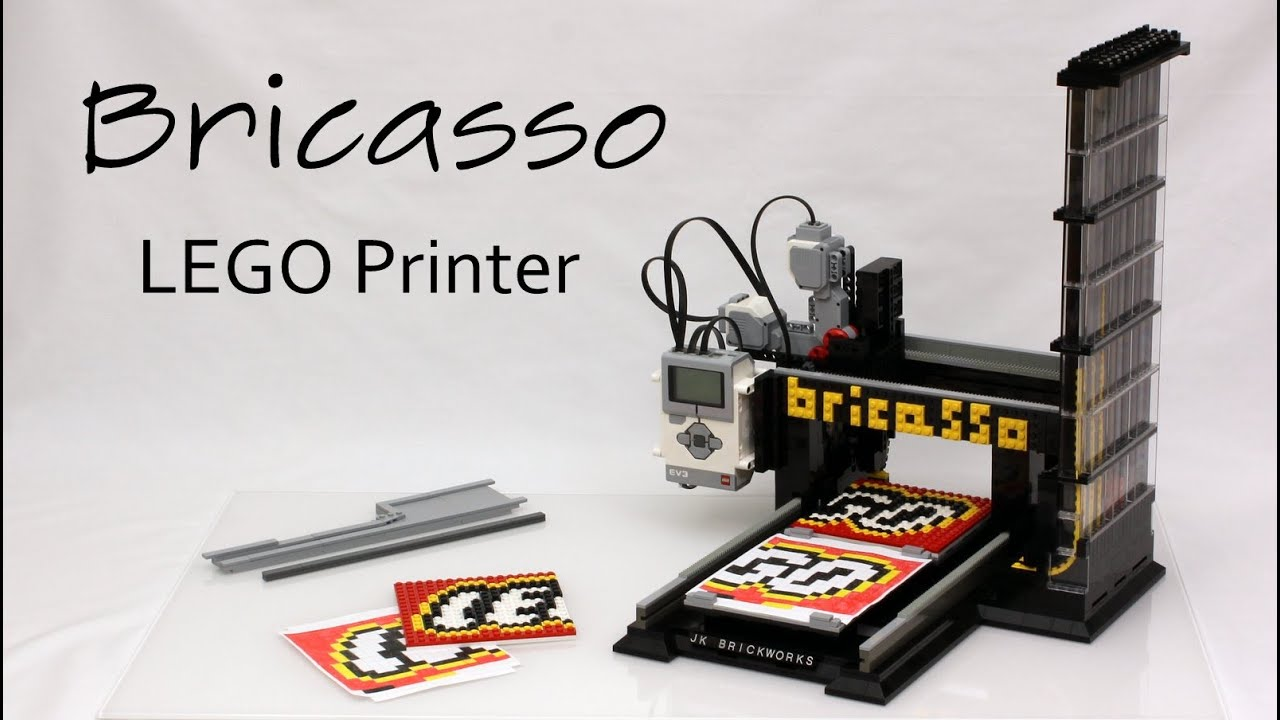 The Bricasso Is A LEGO-Built Printer That Prints With Real LEGO