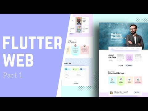 Create A Portfolio Website - Part 1 - Flutter Web - Speed Code