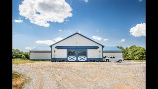 T-shaped Horse Barn With Indoor Riding Arena - A.B. Martin