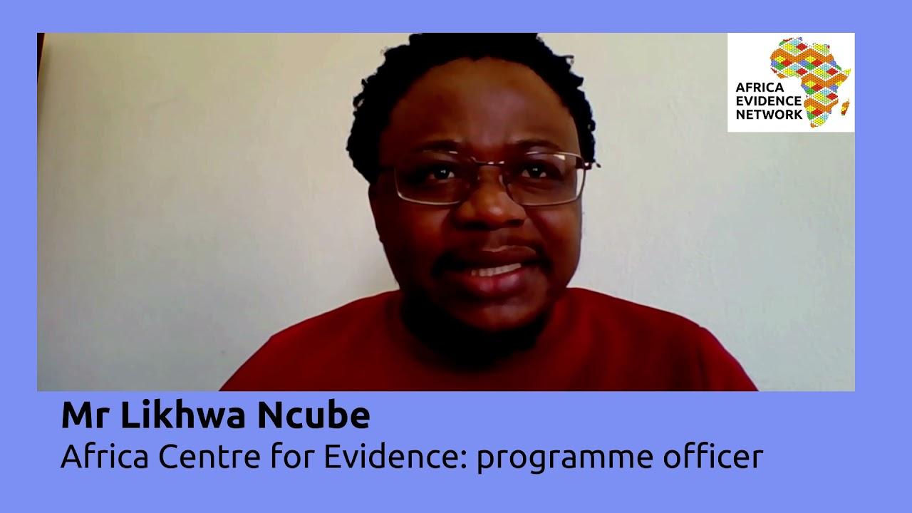 Africa Evidence Week 2021: Emerging EIDM leader_ Likhwa Ncube: why I fell in love with EIDM