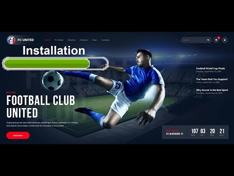 FC United - Correct Installation, Activation, Plugins, Demo import WordPress Theme