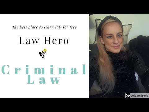 LAW HERO FE1 How to pass Criminal Law