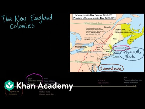 New England colonies: society and religion video Khan Academy