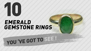 Emerald Gemstone Rings Top 10 Collection // UK New & Popular 2017
