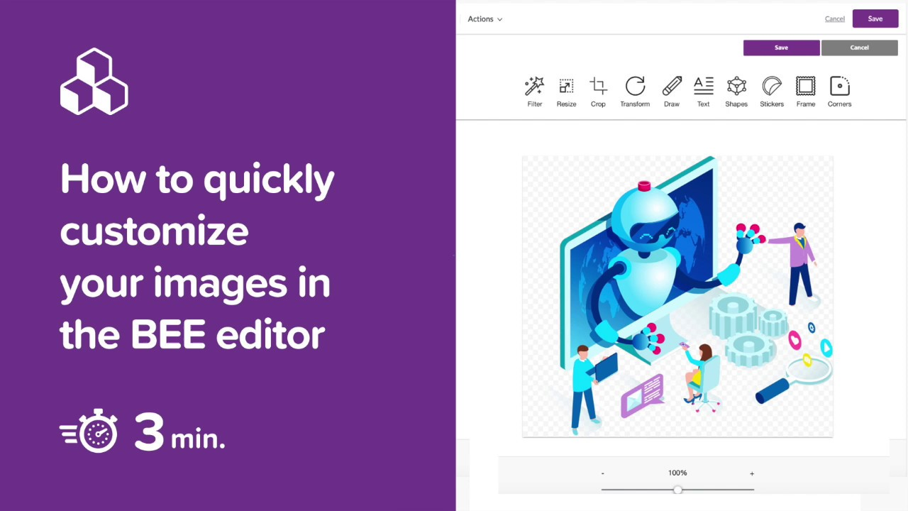 How to quickly customize your images in the BEE editor