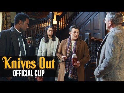 "Knives Out (2019 Movie) Official Clip ""Ransom Arrives"" – Chris Evans, Daniel Craig"