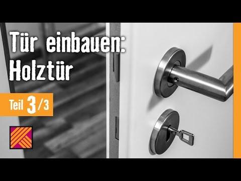 Version 2013 Tür einbauen: Holztür - Kapitel 3: Türbeschlag montieren |