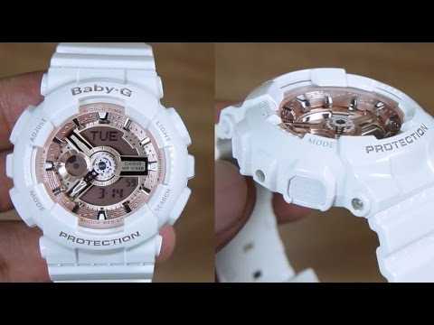 CASIO BABY-G BA-110-7A1 WHITE GOLD ROSE EDITION - UNBOXING