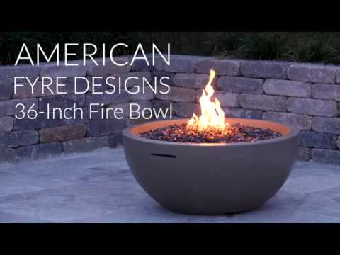 American Fyre Designs 36-Inch Fire Bowl - Smoke