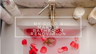 Bathroom Renovation | Marble + Gold
