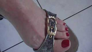 Sexy bare feet and walking on toes by Aga