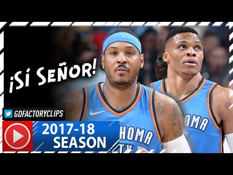 Russell Westbrook Triple-Double & Carmelo Anthony Full Highlights vs Grizzlies (2017.12.09) - CLUTCH