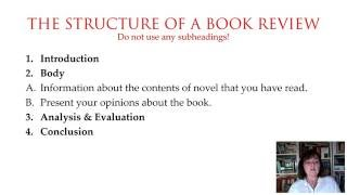 Book Review Part 3/7  How to Structure a Book Review.