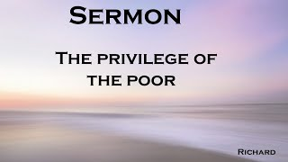 The privilege of the poor – Psalm 34:1-7, Matthew 4:23-5:12