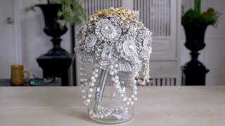 How To Make A Jewelled Brooch Wedding Bouquet