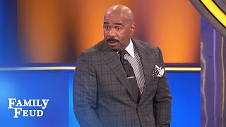 The Merriets MURDER this question! Steve gets SCARED!   Family Feud