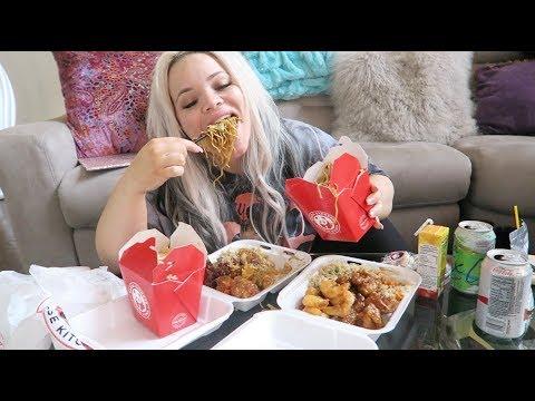 eating my weight in Chinese food (PANDA EXPRESS MUKBANG)