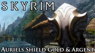 Skyrim Mod Spotlight: Auriels Shield Gold and Argent Retexture