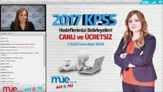 2017 KPSS A - Hedeflerimizi Belirleyelim (Murat Uzaktan Eğitim Rehberlik Semineri)