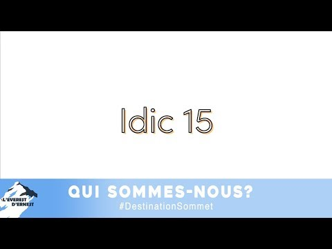 Ensemble face à l'idic 15