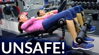 Unsafe Abdominal Exercises For Prolapse Or After Hysterectomy   Physical Therapist Demonstration