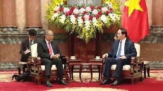 Chủ tịch nước tiếp Bộ trưởng Bộ Môi trường và Tài nguyên Singapore