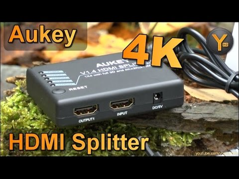 Review: Aukey HA-H02 / 4-fach HDMI 1.4 Splitter / 1080p / 4K UHD / 3D