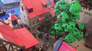 Diorama - Playmobil - Medieval, harbour, ships & castle - Hafen & Burg
