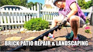Paver Edging Installation with Edgetite Spikes | Plastic Garden Edging | Brick Patio | Landscape