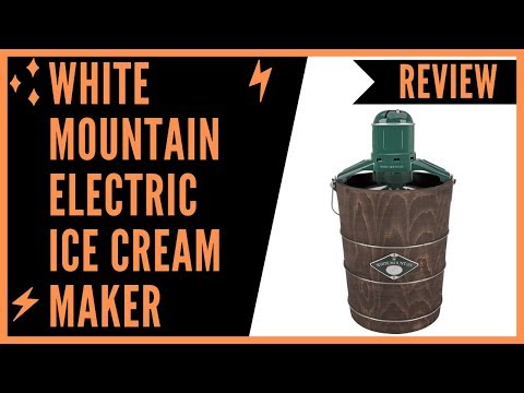 , White Mountain Electric Ice Cream Maker with Appalachian Series Wooden Bucket, 6 Quart (PBWMIME612-SHP)