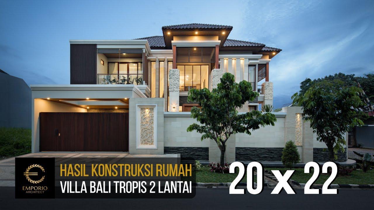 Video Hasil Konstruksi Rumah Villa Bali 2 Lantai Ibu Ponky di Bekasi