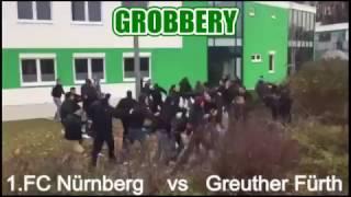 Greuther Fürth Vs 1. FC Nürnberg Hooligans Fight On The Street