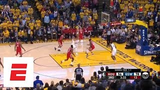 Steph Curry goes off in third quarter of Game 3 against the Houston Rockets | ESPN - Video Youtube