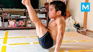SUPER KID Or Baby Bruce Lee?   Ryusei Imai | Muscle Madness