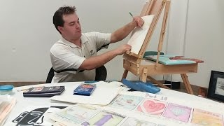 The art of Ben Underwood: Creating Greeting cards, watercolor painting