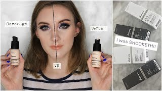THE ORDINARY COVERAGE Vs SERUM FOUNDATION! | Under $7 WTF