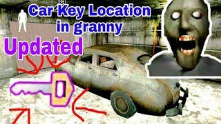 Car key location in granny (v-1.7) || All location of car key in granny || granny car key locations