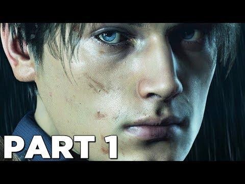RESIDENT EVIL 2 REMAKE Walkthrough Gameplay Part 1 - INTRO (RE2 LEON)