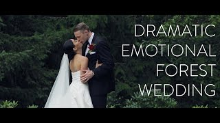 Grooms Emotional Speech Is A Tearjerker | Louise + Camerons Dramatic Forest Wedding
