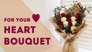 DIY (Eng Sub) How To Wrap A Bouquet With Kraft Wrapping Paper