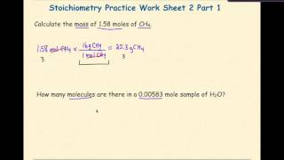 AP Chemistry Stoichiometry Worksheet 2 Set 1